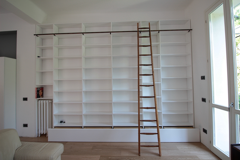 Librerie Con Scala Scorrevole In Legno.Gallery Falegnameria Fallacara