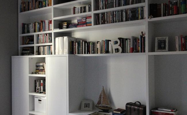 Libreria laccato opaco
